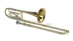 Bass trombone. 3d rendering of bass trombone stock illustration
