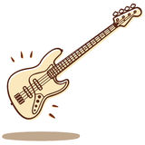 Bass vector. Illustrations of a bass guitar isolated on white + vector eps file Stock Image