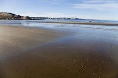 Bassa marea ad una spiaggia in penisola Valdes Fotografia Stock Libera da Diritti