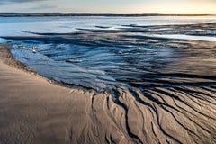 Bassa marea alla baia di Somme immagine stock libera da diritti