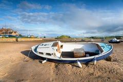 Bassa marea a Alnmouth Fotografia Stock Libera da Diritti