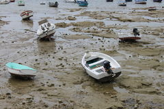 Bassa marea a Cadice Immagine Stock