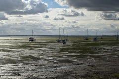 Bassa marea del lungonmare Fotografia Stock