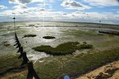 Bassa marea del lungonmare Immagine Stock