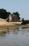 Bassa marea Locmariaquer, Bretagna, Francia Immagini Stock Libere da Diritti