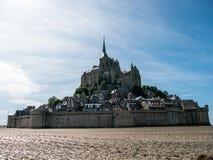 Bassa marea a Mont Saint-Michel Fotografia Stock Libera da Diritti