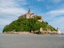 Bassa marea a Mont Saint-Michel Fotografie Stock Libere da Diritti