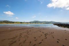 Bassa marea in Rodiles Fotografia Stock Libera da Diritti