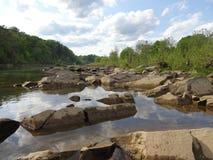 Bassa marea sul fiume Potomac in Washington DC Immagini Stock Libere da Diritti