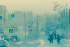Bassa temperatura estrema Fotografia Stock Libera da Diritti