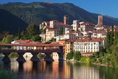 Bassano alpines' bridge Royalty Free Stock Image