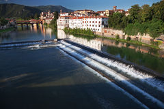 Bassano alpines' bridge Royalty Free Stock Photos