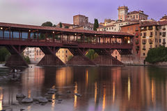Bassano alpines' bridge Stock Photography