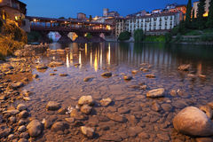 Bassano alpines' bridge Stock Photos