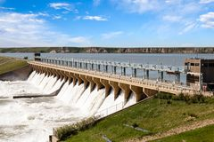 Bassano Dam Royalty Free Stock Photography