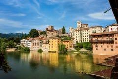 Free Bassano Del Grappa And Bridge Of The Alpini Stock Image - 125069791