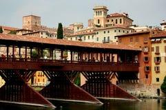 Bassano del Grappa, Italy: 13th century Ponte Coperto Stock Images