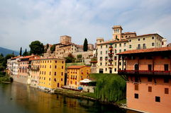 Bassano del Grappa, Italy: View of Town Stock Image