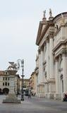 Bassano del Grappa, Liberty Square and lion statue Stock Image