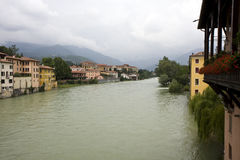 Bassano del Grappa town Royalty Free Stock Images