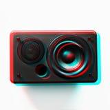 Basse audio électronique musicale de woofer de haut-parleur images libres de droits