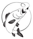 Basse de poissons illustration stock