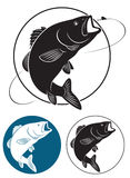 Basse de poissons illustration libre de droits
