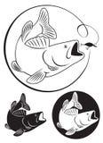 Basse de poissons Image libre de droits