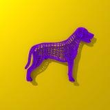 Basse illustration polygonale pourpre de chien Photos stock