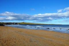 Basse Newton-par-le-mer dans le Northumberland images stock