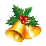 Basse poly cloche de Noël d'art moderne Photographie stock libre de droits