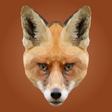 Basse poly conception abstraite de Fox Photo libre de droits