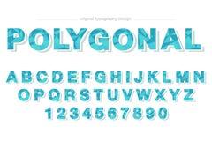 Basse poly conception colorée bleue de typographie illustration de vecteur