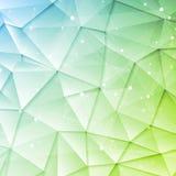 Basse poly conception d'éléments de brochure de technologie Image stock