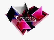 Basse poly conception triangulaire de fond, triangles multicolores Vecteur photographie stock