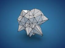 Basse poly forme abstraite image libre de droits