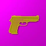 Basse poly illustration de cadre jaune de pistolet Image stock