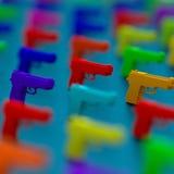 basse poly illustration du pistolet 3d Photo libre de droits