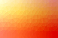 Basse poly illustration triangulaire fripée géométrique abstraite orange de style Photos libres de droits