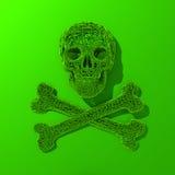 Basse poly illustration verte de Jolly Roger Photographie stock