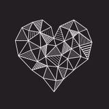Basse poly ligne géométrique abstraite coeur Photos libres de droits