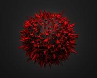 Basse poly sphère avec la structure chaotique Photo stock