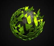 Basse poly sphère avec la structure chaotique illustration de vecteur