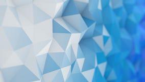 Basse poly surface blanche 3D et bleue illustration de vecteur