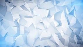 Basse poly surface 3D bleu-clair illustration libre de droits