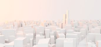 Basse poly ville moderne illustration de vecteur