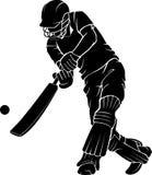 Basse silhouette d'oscillation de cricket Illustration de Vecteur
