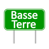 Basse-Terre road sign. Royalty Free Stock Images