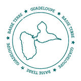 Basse-Terre wyspy wektorowa mapa Zdjęcia Royalty Free