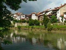 Basse-ville, Fribourg (Suisse) Imagen de archivo libre de regalías